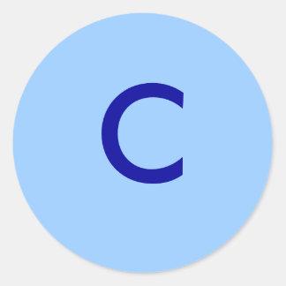 C CLASSIC ROUND STICKER