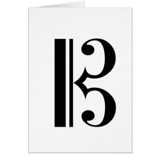 C-Clef Blank Notecard Greeting Card