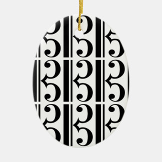 C-Clef Christmas Ornament