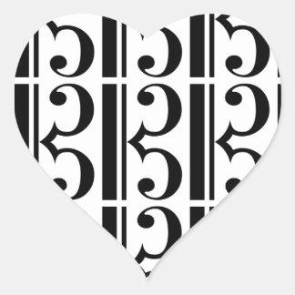 C-Clef Heart Sticker