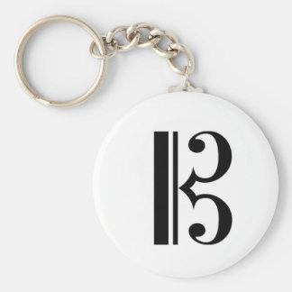 C-Clef Keychain