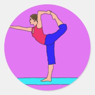 C Dancer.jpg Round Sticker