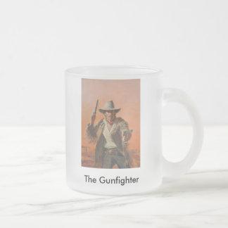 C.Dawn 10-07 220, The Gunfighter 10 Oz Frosted Glass Coffee Mug
