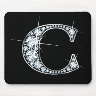 """C"" Diamond Bling Mousepad"