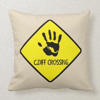 C.Diff Crossing Sign Cushion