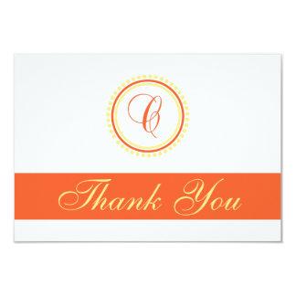 C Dot Circle Monogam Thank You (Orange / Yellow) Personalized Invitation
