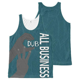 C Dub All Business BW All-Over Print Tank Top