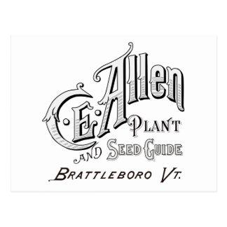 C.E. Allen Plant & Seed Guide 1894 Postcard