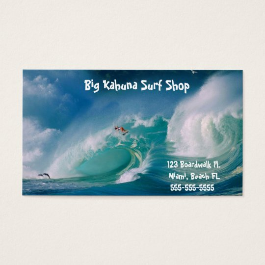 C.E. Surf Shop Business Card