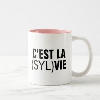 C'est la (Syl)Vie - C'est la Vie Two-Tone Coffee Mug