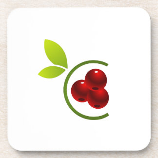 C for cherry beverage coasters