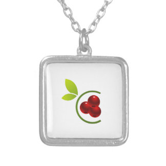 C for cherry personalized necklace
