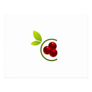 C for cherry postcard
