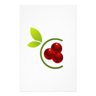 C for cherry stationery design