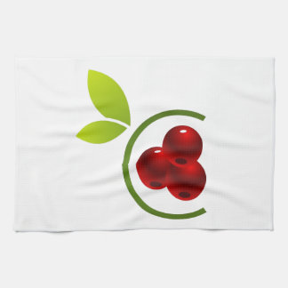 C for cherry kitchen towel