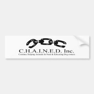 C.H.A.I.N.E.D. Inc. Logo Bumper Sticker