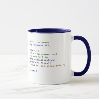C++ Infinite Loop Eat, Sleep, and Code Mug