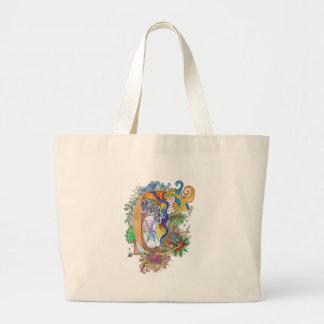 C, initial, monogram, wedding jumbo tote bag