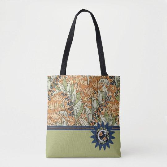 C Initial Tote Bag