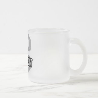 C is for Caden 10 Oz Frosted Glass Coffee Mug