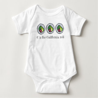 C is for California Roll Japanese Food Sushi ABCs Baby Bodysuit