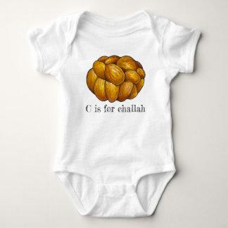 C is for Challah Bread Jewish Holiday Hanukkah Baby Bodysuit