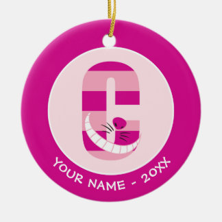 C is for Cheshire Cat | Add Your Name Christmas Ornament