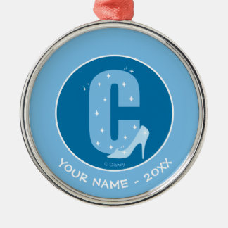 C is for Cinderella   Add Your Name Christmas Ornament