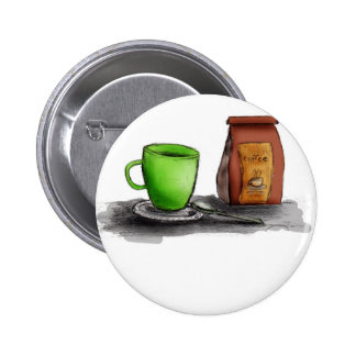 C is for Coffee 6 Cm Round Badge