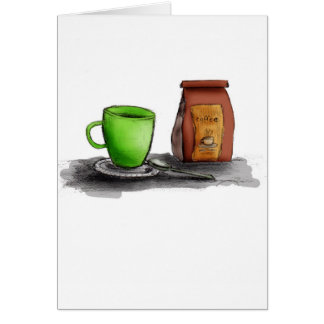 C is for Coffee Greeting Card