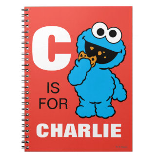 Notebooks - C is for Cookie Monster | Add Your Name Notebook