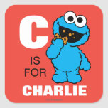 C is for Cookie Monster Square Sticker