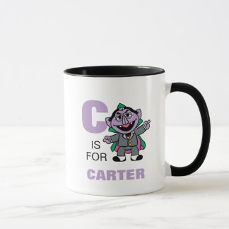 C is for Count von Count | Add Your Name Mug