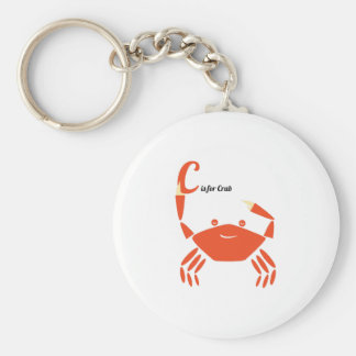 C Is For Crab Key Chains