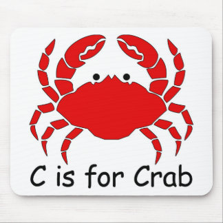 C is for Crab Mouse Mat