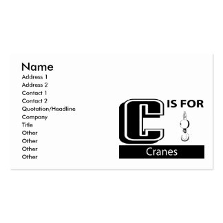 C Is For Cranes Business Card