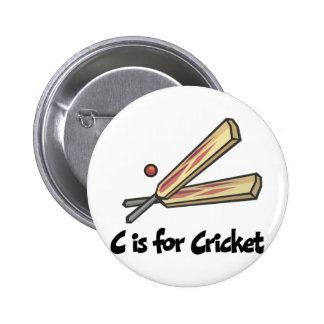 C is for Cricket 6 Cm Round Badge