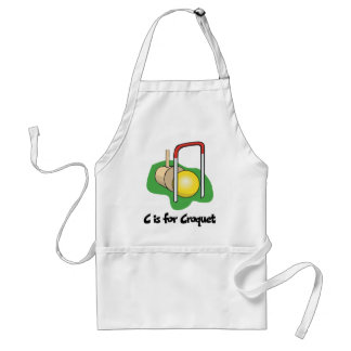 C is for Croquet Standard Apron