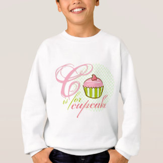 C Is For Cupcake Kids Sweatshirt