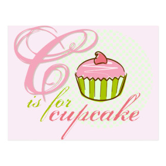 C Is For Cupcake Postcard