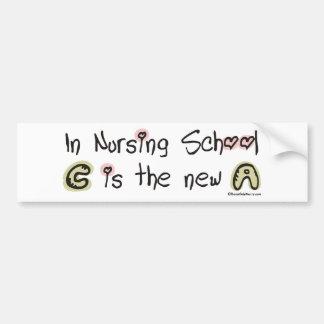 C is the new A in Nursing School Bumper Sticker