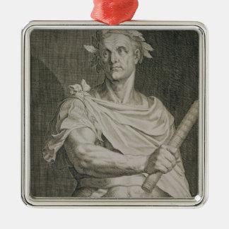 C. Julius Caesar (100-44 BC) Emperor of Rome engra Christmas Ornament