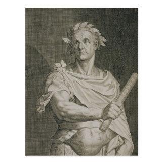 C. Julius Caesar (100-44 BC) Emperor of Rome engra Postcard