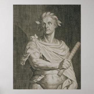 C. Julius Caesar (100-44 BC) Emperor of Rome engra Poster