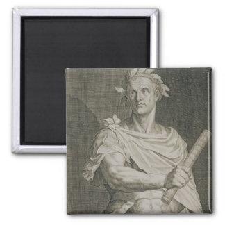 C. Julius Caesar (100-44 BC) Emperor of Rome engra Square Magnet