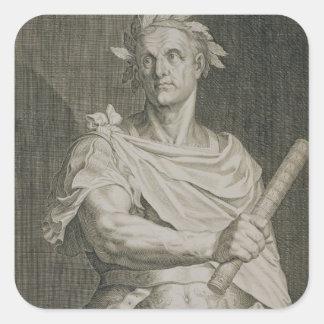 C. Julius Caesar (100-44 BC) Emperor of Rome engra Square Sticker