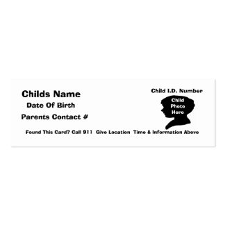 C.L.O.S.E  Child Safety System Pack Of Skinny Business Cards