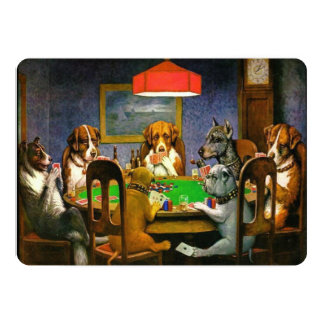 C.M. Coolidge Dogs Playing Poker Card