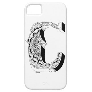 C - Mandala N°1 inside Alphabet N°1 Case For The iPhone 5