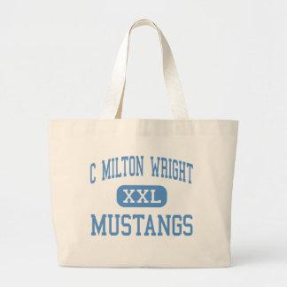 C Milton Wright - Mustangs - High - Bel Air Tote Bag